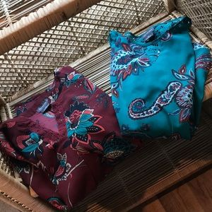 Van Heusen paisley shirt bundle